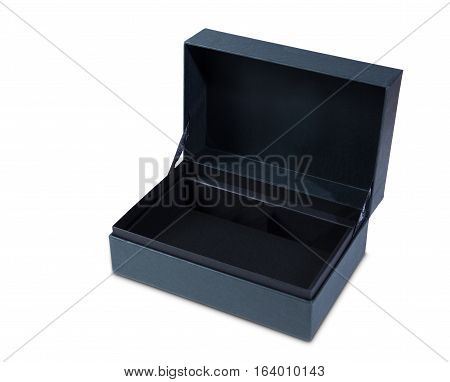 gift box open empty isolated on white