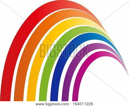 Rainbow, Many color lines, Colored, spectrum and rainbow logo