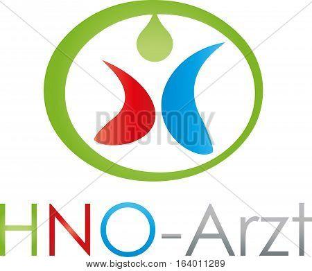 Neck, nose, ear doctor logo, doctor and medical practice logo