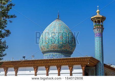Shah Cheragh Mosque and mausoleum in Shiraz city in Iran