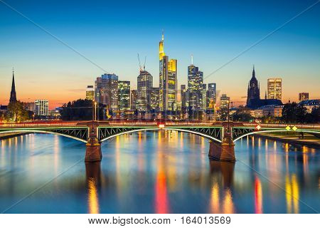Frankfurt am Main. Cityscape image of Frankfurt am Main during sunset.