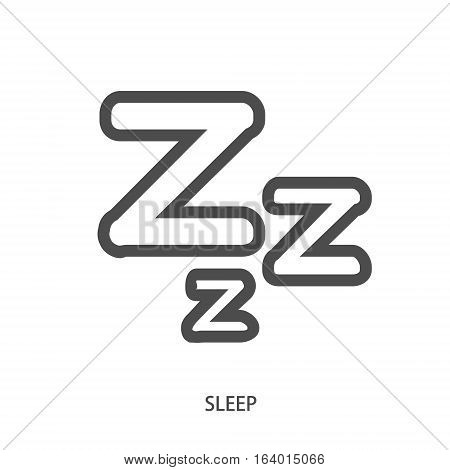 Sleep ZZZ icon in modern line style
