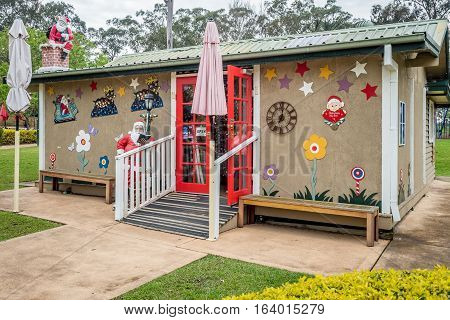 Pokolbin, Australia - Sep 29, 2016: Christmas shop at the Hunter Valley Gardens Shopping Center, New South Wales. This shop only sells Christmas-related merchandise. High resolution.