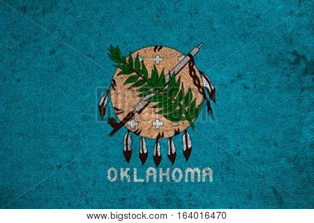 Graphic American State Grunge Flag Of Oklahoma