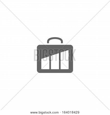 Business suit case logo or icon isolated on a white background