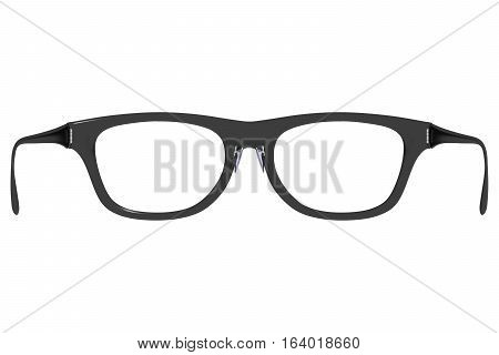 Rear View Of Eyeglasses As If You Are Wearing Them