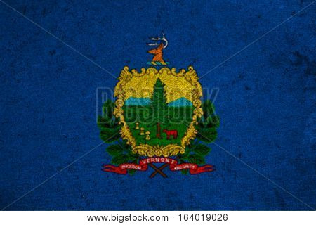 Graphic American State Grunge Flag Of Vermont