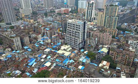 Bird's eye view of Guangzhou City Centre, Guangdong, China