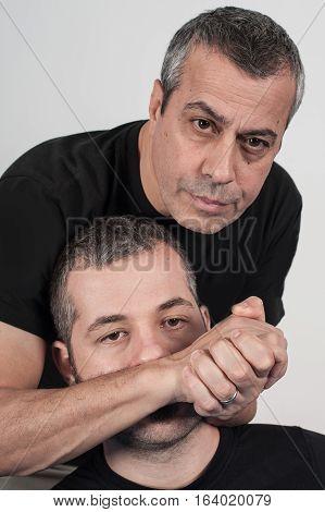 Kapap Instructor Demonstrates Choke Techniques