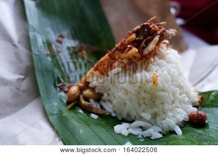 Traditional Food In Malaysia Named Nasi Lemak