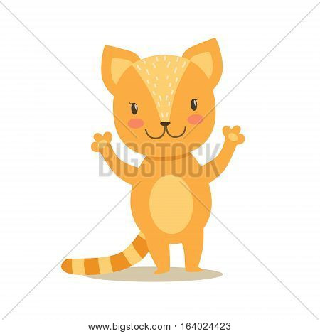 Little Girly Cute Kittens Cartoon Characters Different Activities And Situations Set Of Vector Illustrations. Cat Humanized Baby Animal And Its Activity Emoji Flat Vector Drawing poster