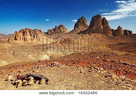 Rocks in Sahara Desert, Hogar mountains, Algeria