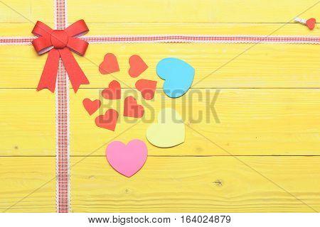 Decorative Valentine Red Bow