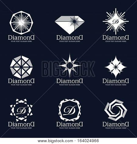 Diamond and Jewellery logo vector set design