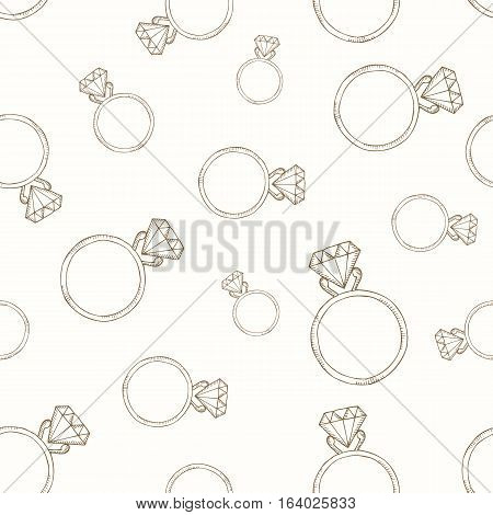 Beige pattern from the diamond ring. Seamless