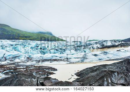 Vatnajokull Glacier, Southern Iceland.