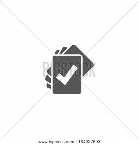 Cards icon isolated on a white background.