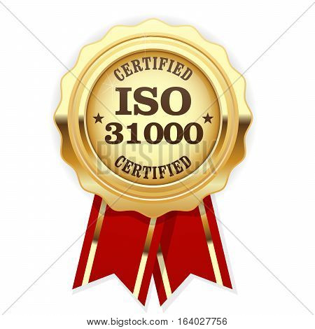 ISO 31000 standard certified rosette - risk management