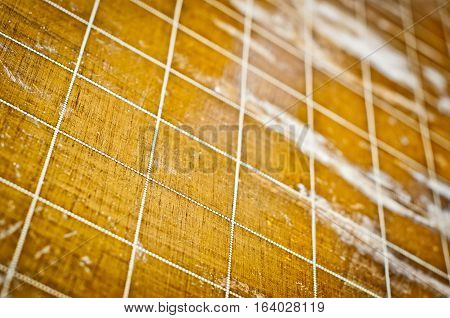 Wood floor with dotted line grid. Wood texture rich in detail.