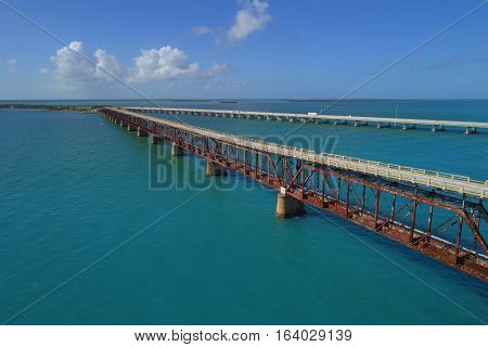 Overseas railroad Florida Keys by Henry Flagler