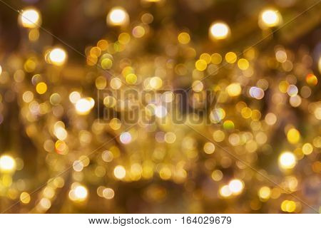 Colourful Various Shape Abstract Golden Vintage Background