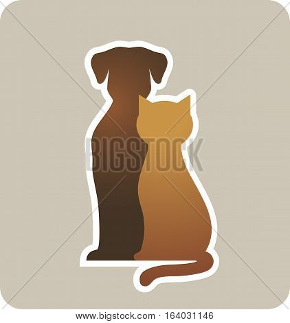 Dog And Cat Silhouettes