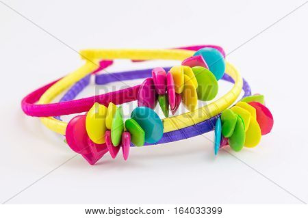 Girls Hair Band On White Background