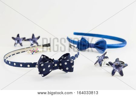 Two Hair Bands On White Background
