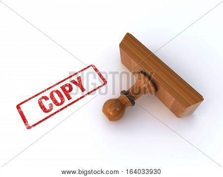 rubber stamp showing