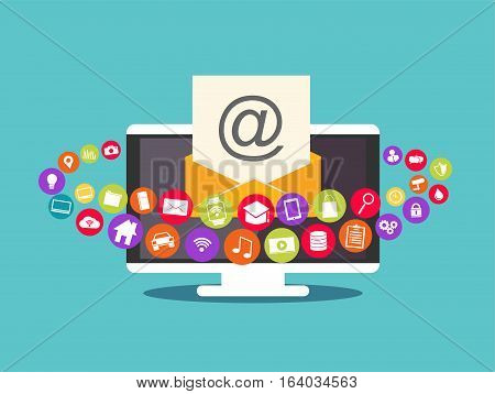 Email marketing. Email contents. Multimedia email .
