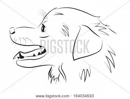 Dog portrait in profile a simple vector illustration