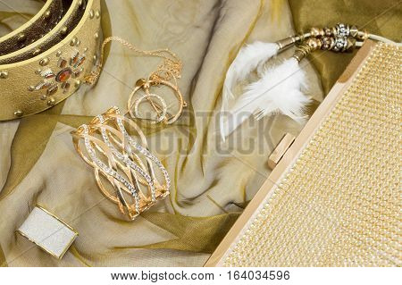 Golden Colored Women Accessories