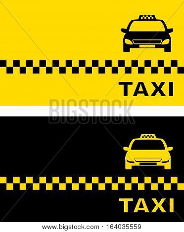 Black And Yellow Taxi Card