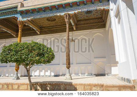 The Area Of The Veranda In The Memorial Complex Bahouddin Naqshbandi In Bukhara.