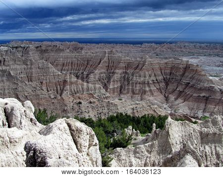 Badlands National Park in South Dakota, United States