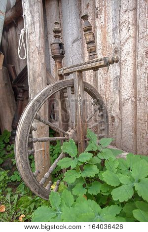 Old Wooden Spinning Wheel