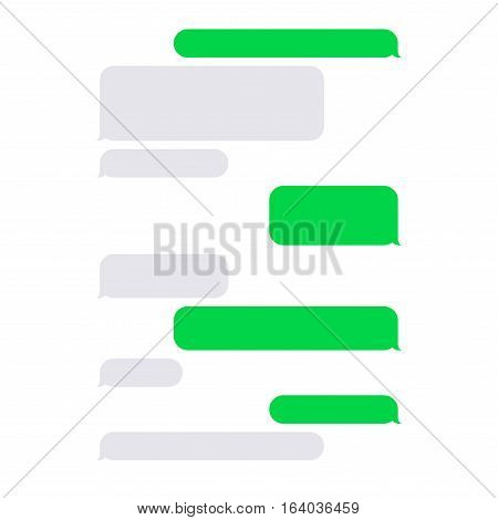 Short Message Service SMS Blank Bubbles Set. Vector illustration