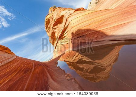 Water in the Desert of The Wave Coyote Buttes Paria Canyon-Vermilion Cliffs Wilderness, Utah, United States of America