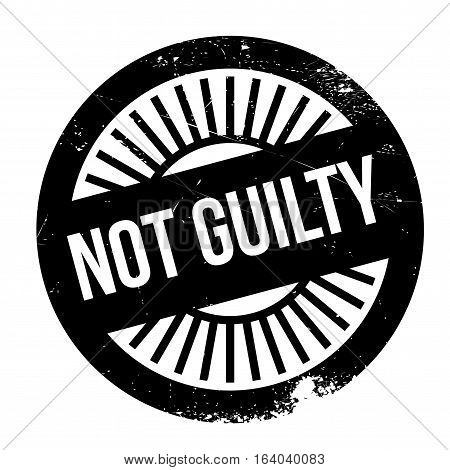 Not guilty stamp. Grunge design with dust scratches. Effects can be easily removed for a clean, crisp look. Color is easily changed.