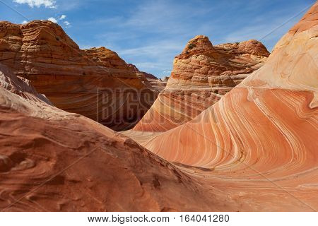 Rock Desert of The Wave Coyote Buttes Paria Canyon-Vermilion Cliffs Wilderness, Utah, United States of America
