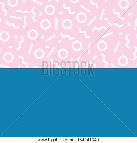 Hipster boho chic background with memphis geometric texture. Minimal creative printable journaling card, art print, design for banner, poster, flyer
