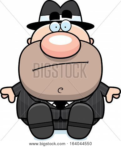 Cartoon Mobster Sitting