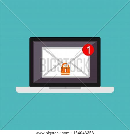 Email Authority. Email protection. Email security symbol