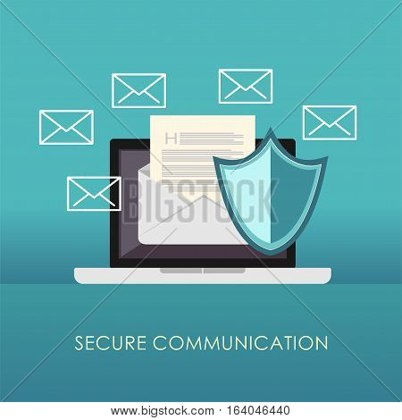 Secure communication. Email protection. Secure messages .