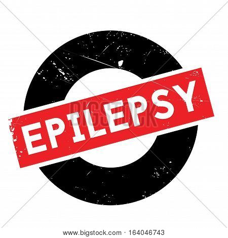 Epilepsy rubber stamp. Grunge design with dust scratches. Effects can be easily removed for a clean, crisp look. Color is easily changed.