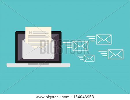 Sending messages concept. Sending email illustration. Electronic mail