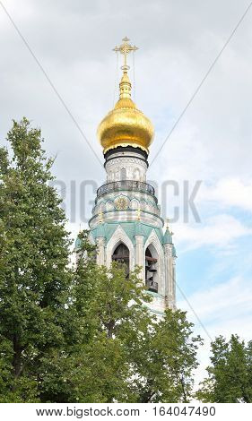 Bell tower of Sophia Cathedral - Orthodox church now a museum in Vologda Russia. Erected in 1568 - 1570 years on the orders of Ivan the Terrible.