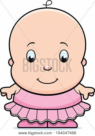 Cartoon Baby Ballerina