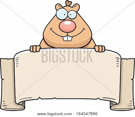 Cartoon Hamster Banner