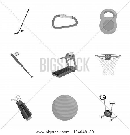Sport and fitness set icons in monochrome style. Big collection of sport and fitness vector symbol stock
